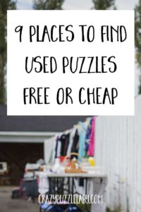 places to find free cheap used puzzles