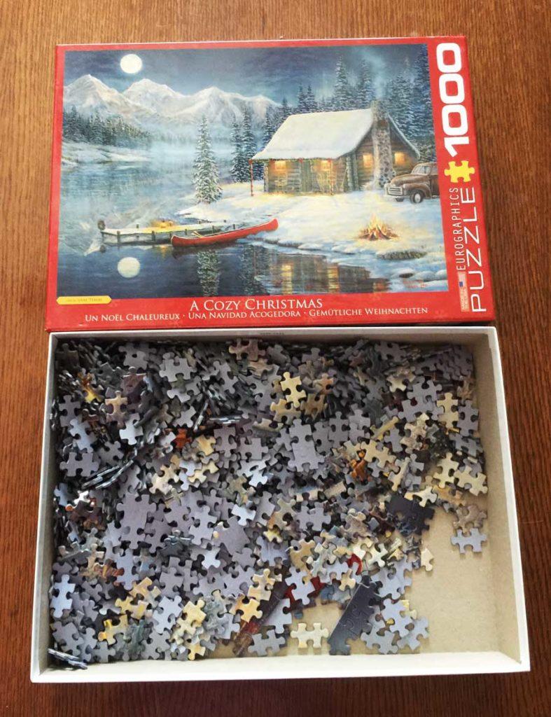 cozy christmas puzzle box